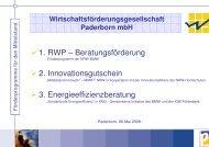 RWP-Beratung, Innovationsgutschein ... - Paderborn.de