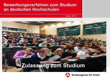 Präsentation zur Studienbewerbung (Vortrag von Frau Hofmann;BfA