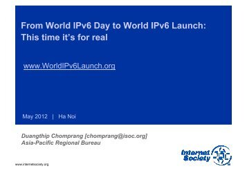 From World IPv6 Day to World IPv6 Launch: This time it's for real