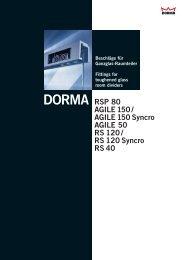DORMA RSP 80 - Glasma Service, UAB