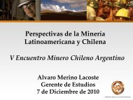 Perspectivas de la minería latinoamericana y chilena - Sonami