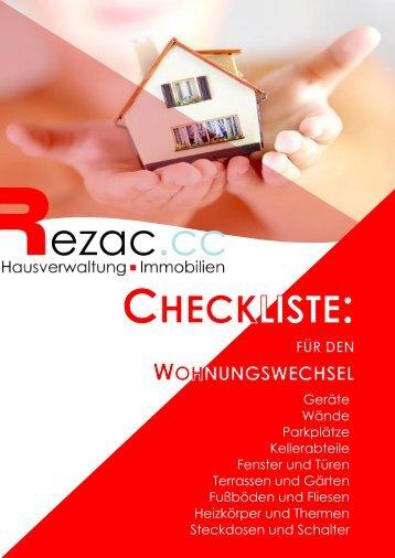 Checkliste für den Wohnungswechsel