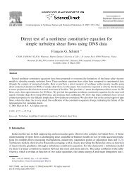 Direct test of a nonlinear constitutive equation for simple turbulent ...