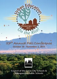 Conference Agenda - Council of the Great City Schools
