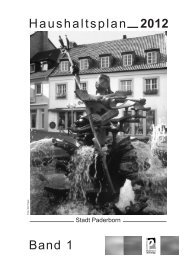 Vorbericht zum Haushalt 2012 - Paderborn.de