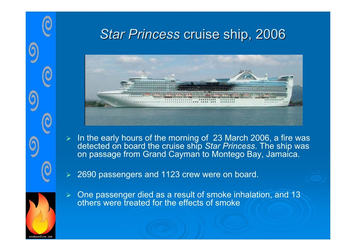 Free Magazines From COOKEONFIRECOM - Princess cruise ship fire
