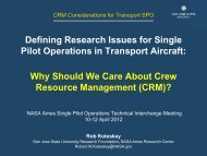 (CRM)? - Human Factors Research and Technology Division - NASA