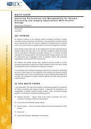 Seismic Processing and Imaging: IDC White Paper - Panasas