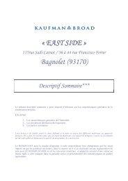 « EAST SIDE » Bagnolet (93170) - Kaufman & Broad