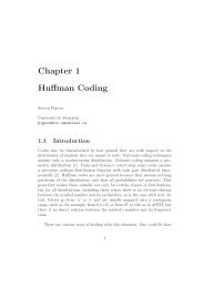 Chapter 1 Huffman Coding - Steven Pigeon