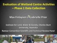 Evaluation of wetland centre activities - Wetland Link International