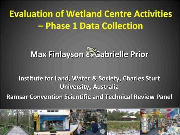 Evaluation of wetland centre activities - Wetland Link International