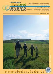 gelangen Sie zur 20. Ausgabe des OberLand - Schweinfurter ...