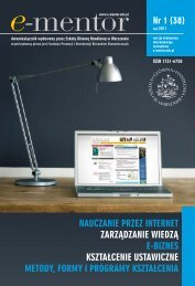 metody, formy i programy kształcenia - E-mentor