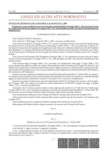 LEGGI ED ALTRI ATTI NORMATIVI - Direzione Politiche Economiche