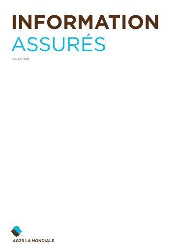 Information assurés – juin 2012 - AG2R LA MONDIALE Partenaires