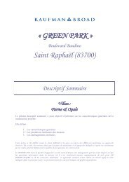 St Raphaël - Green Park - Villas Individuelles ... - Kaufman & Broad