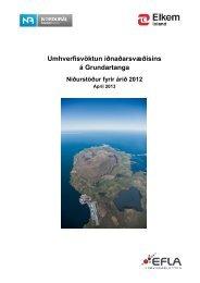 Umhverfisvöktun. Niðurstöður fyrir árið 2012 - Umhverfisstofnun