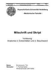 Medizinische Fakultät - Mitschrift und Skript - DocCheck Campus