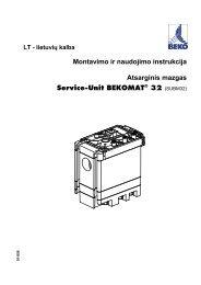 Montavimo ir naudojimo instrukcija Atsarginis mazgas Service-Unit ...