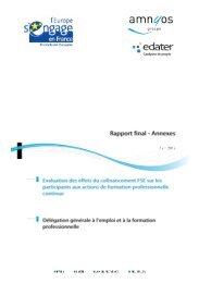 rapport d'annexes - FSE