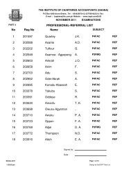Professional Referral List for November 2011 Exams