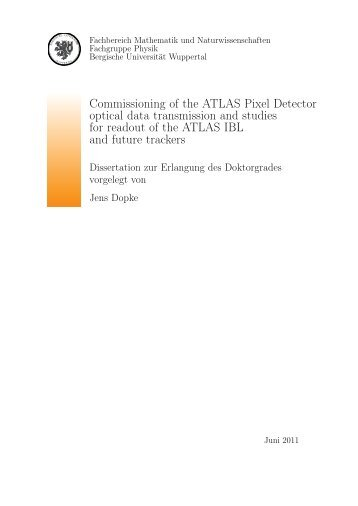 Commissioning of the ATLAS Pixel Detector optical data ...