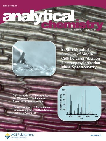 In Situ Metabolic Profiling of Single Cells by Laser Ablation ...