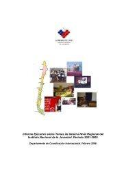 Informe Ejecutivo sobre Temas de Salud a Nivel ... - Inicio - Injuv