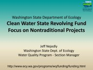 Clean Water State Revolving Fund Focus on Nontraditional Projects