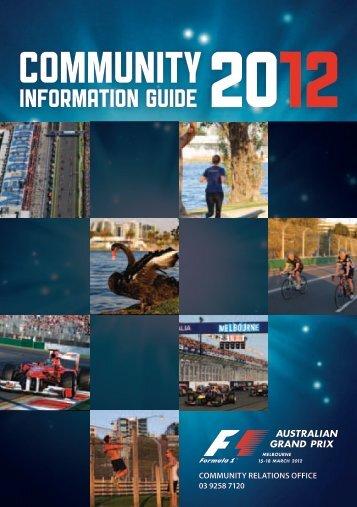 Click here to View the Community Brochure - Australian Grand Prix