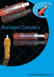 Page 1 Page 2 @Standard Hydraulic Cylinders Technical Data ...