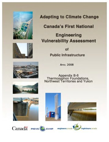 Northwest Territories, Thermosyphon Foundations - Vulnerability ...