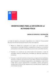 Orientaciones para la difusión de la actividad física 2012