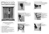 Montageanleitung Insektenschutz Rollo für Fenster/Türen ... - Kadeco