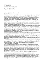 Idee per l'eco-agricoltura - Rete dei Comitati per la difesa del territorio