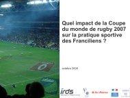 Impact de la coupe du monde de rugby 2007 sur la prtaique sportive