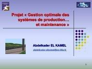 Gestion Optimale des Systèmes de Production et Maintenance - LSIS