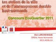 Retours sur le concours EcoQuartiers 2011 - DREAL Haute ...