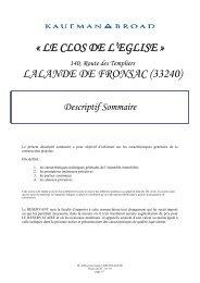 le clos de l'eglise » lalande de fronsac (33240) - Kaufman & Broad