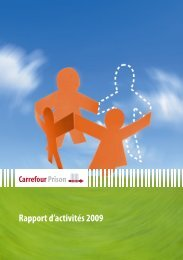 Rapport d'activités 2009 - Carrefour-Prison