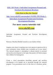 EDU 305 Week 1 Individual Assignment Prenatal and Newborn Development Brochure.pdf