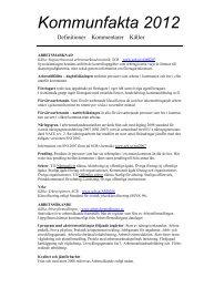 Definitioner till Kommunfakta 2012 - Vellinge kommun