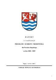 Raport z realizacji Programu Ochrony Środowiska ... - Powiat Słupski