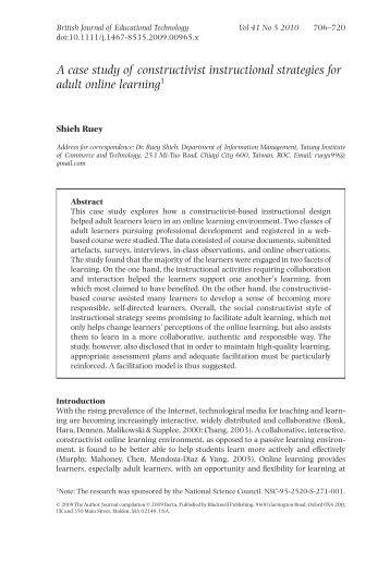 A case study of constructivist instructional ... - Anitacrawley.net