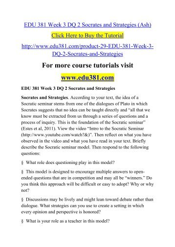 edu 620 week 4 dq 2 This pack of edu 620 week 3 discussion question 2 pedagogical strategies for learning disabilities comprises: successful strategies for teaching stu.