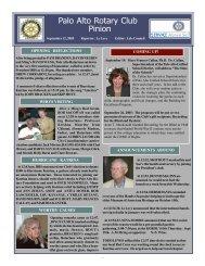 September 12, 2005 - Palo Alto Rotary
