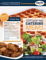 Check out our menu - Cottage Inn Pizza