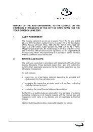 Audit report - City of Cape Town