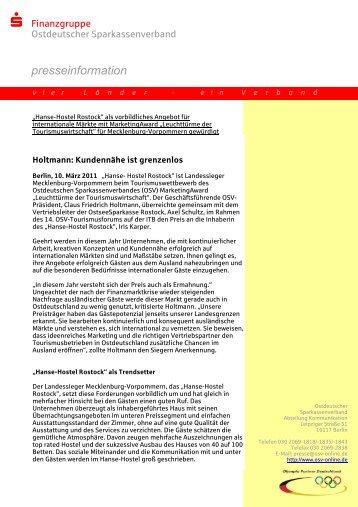 presseinformation - Ostdeutscher Sparkassenverband